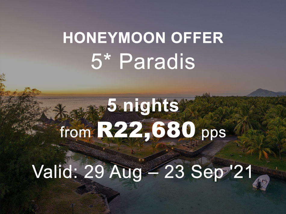 Mauritius Honeymoon Offer 5* Paradis