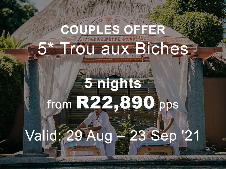 Mauritius Honeymoon Offer 5* Trou aux Biches