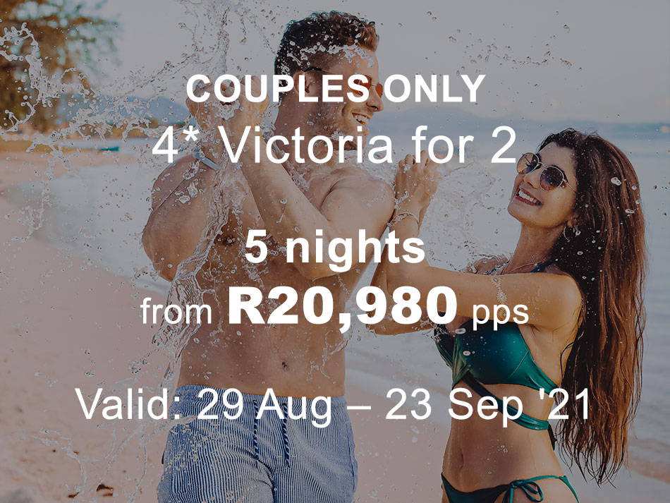 Mauritius Honeymoon Offer 4* plus Victoria for 2