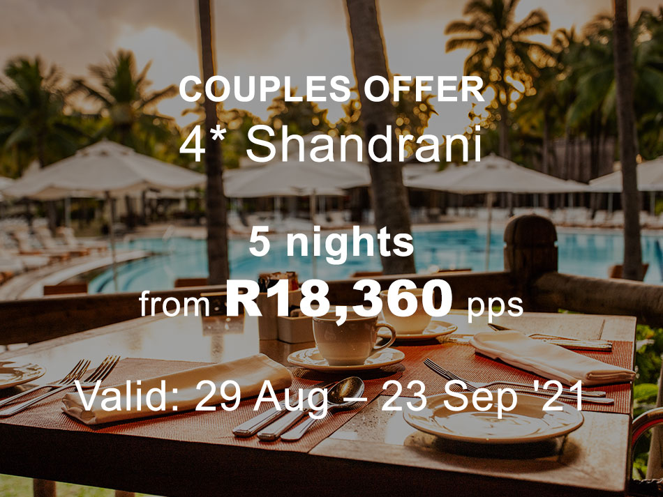 Mauritius Couples and Family Offer 4* plus Shandrani