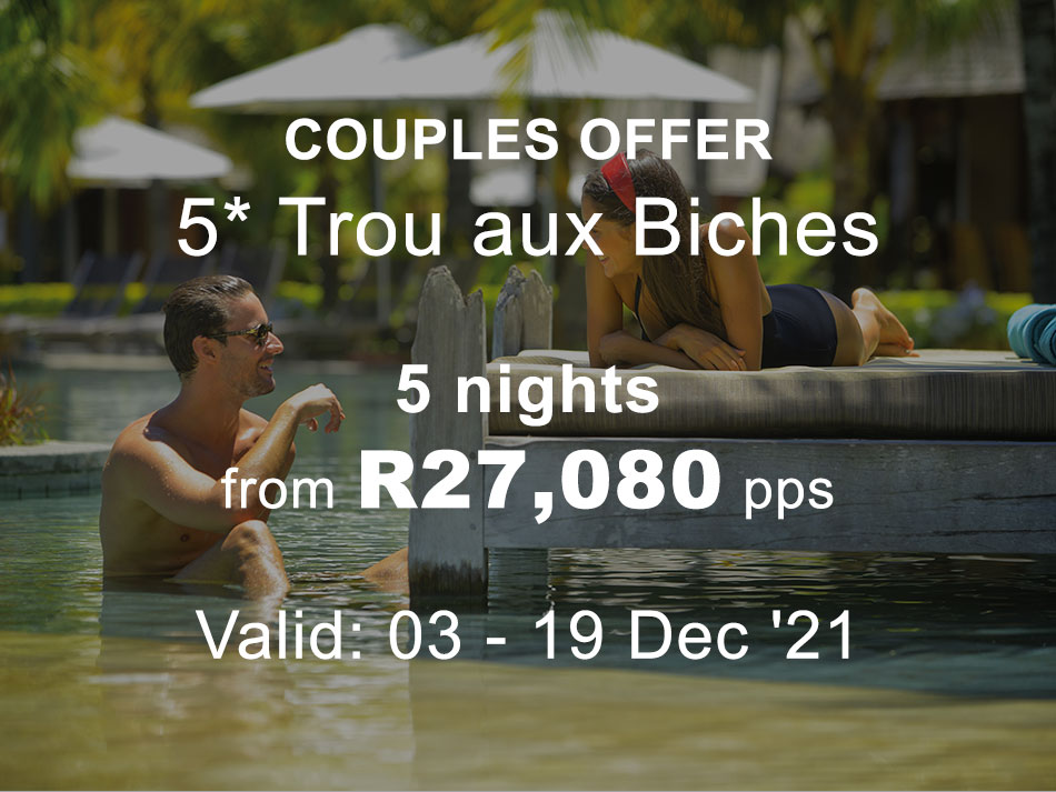 Mauritius Couples and family Offer 5* Trou aux Biches