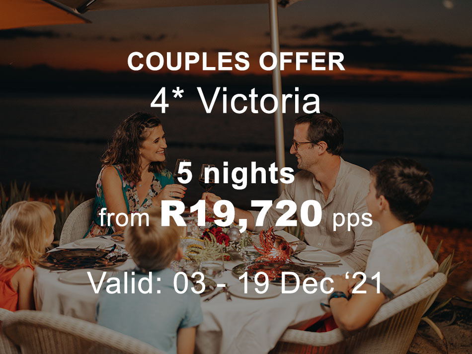 Mauritius Couples and Family Offer 4* plus Victoria