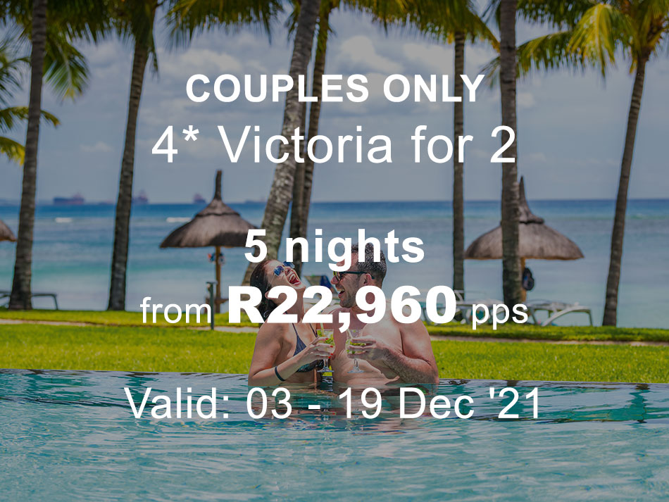 Mauritius Couples Offer 4* plus Victoria for 2