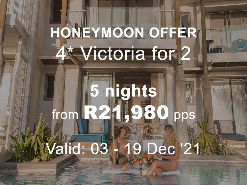 Honeymoon Offer 4* to Victoria - Ocean Facing